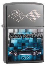 Zippo Feuerzeug Chevy Corvette 1970 Katalog 2018 Black Ice 60003531