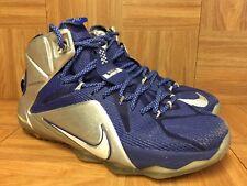 RARE🔥 Nike LeBron 12 XII What If Dallas Cowboys Royal Silver Sz 9 684593-410 LE