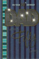 50 Tarjeta De Cumpleaños Para Papá. On Your 50 Cumpleaños Dad Solo Para Ti