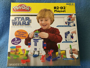 R2-D2 PLAYSET Play-Doh Star Wars The Clone Wars 2009 Hasbro NEW Sealed