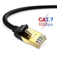 New Round CAT7 Ethernet Cable RJ45 Network LAN Cord 10Gbps Wire For Laptop PC