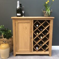Grange Oak Wine Rack Storage / Solid Wood Drinks Cabinet / Sideboard / Cupboard