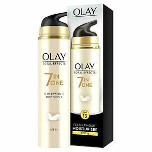 OLAY Total Effects 7 In One 50ml. SPF 15 Featherweight Moisturiser Brand New