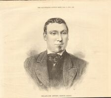 1871 ANTIQUE PRINT- ROWING - THE LATE JAMES RENFORTH, CHAMPION OARSMAN