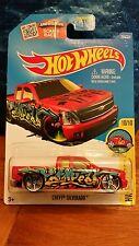 Chevy Silverado #200 Red 2016 Hot Wheels Case P! BB09