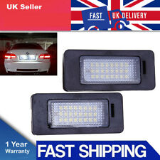 2xLED License Number Plate Light Lamp E39 E60 E61 E90 E92 For BMW 3Series Canbus