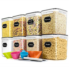 Cereal Container Food Storage Containers, Blingco Airtight Dry Food Storage Set