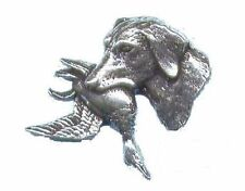 Labrador with Duck Pewter Shooting Pin Badge