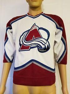 Vintage Starter Colorado Avalanche Jersey Stitched Size Small NHL Hockey