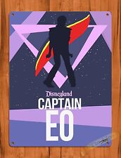 "TIN SIGN Walt Disney ""Captain EO"" Michael Jackson Vintage Ride Poster"