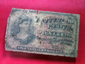 1863 10¢ Cents 4th Issue Fractional Note - Currency