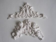 SHABBY CHIC FRENCH COUNTRY CHERUBS  FLOWERS /WITH DECORATIVE FINISHIN MOULDING