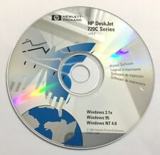 HP DeskJet 720C Series CD-ROM Windows 3.1X, 95, NT 4.0 -1997  C5870-10081