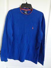 Men's POLO RALPH LAUREN Sleepwear Shirt Sz M Crew Neck Dk. Blue Color