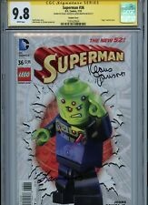 """SUPERMAN #36 NEW 52 {JAN 2015 DC} 1ST PRT """"LEGO"""" VARIANT CGC 9.8 SS JUSTICE LEAG"""