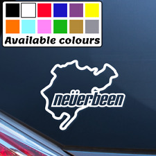 NEVERBEEN FUNNY NURBURGRING CAR WINDOW BUMPER STICKER VINYL DECAL