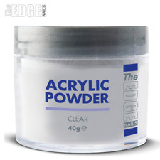 The EDGE NAILS ACRYLIC POWDER CLEAR 40g Professional Self Levelling & Medium Set