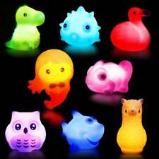 8 pcs Bathroom LED Light Kids Toys Water Induction Waterproof In Tub Bath Fun