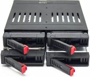"""4 Slot x 2.5"""" HDD SSD SATA Backplane Enclosure 5.25 Bay Internal Rack Hard Disk"""