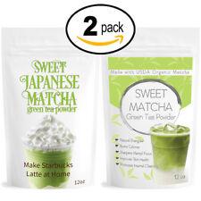 Japanese Sweet Matcha (2x 12oz) Green Tea Powder Mix