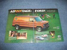 "1978 Ford Econoline E-150 Vintage 2pg Van Ad ""AdVANtage Ford!"""