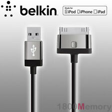Belkin Cable 30-pin to USB MIXIT Charge Sync for iPad iPhone Black F8J041QE04BLK