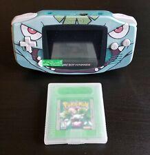 Nintendo GBA POKEMON GREEN Venusaur Custom RARE Mint Gameboy Advance