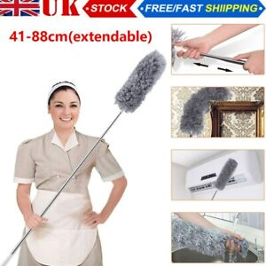 Telescopic Handle Duster Extendable Extra Long Magic Cleaning Feather Brush UK