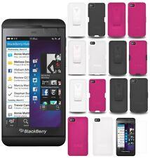 AMZER Hard Shell Snap on Case Belt Clip Holster Screen Guard For Blackberry Z10