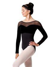 justaucorps de danse , body LULLI dancewear romina LUF510, noir, en XS,S,M ou L