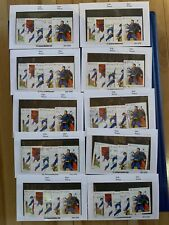 canada stamps LOT OF 10 SETS OF SUPERMAN STAMPS TOTAL OF 50 STAMPS