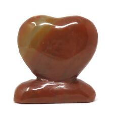 568g Stone Heart - Red Agate - 3.9 inches - Beautiful - Some Flaws - #17
