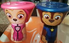 PAW PATROL SKYE & CHASE STACKING 3 PIECE MEAL SETS