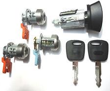 Ford Ignition Lock Cylinder + 3 Door Lock Cylinder W/2 Transponder Chipped Keys