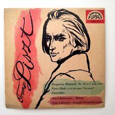 "FRANZ LISZT- ANTON RUBINSTEIN ""HUNGARIAN RHAPSODY""  VG+/EX  FLPM 412 LP 25CM"