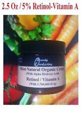 MOST Potent *5% Retinol &Alpha Hydroxy Crème Vitamin A-1,700,000iu/g  2.5oz BEST
