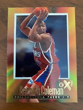1996 -1997 BASKETBALL NBA SKYBOX E-X2000 DERRICK COLEMAN #52