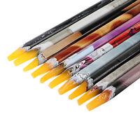 2x Rhinestones Bead Picker Wax Resin Pencil Nail Art Dotting Tool Point Pen-NIUS