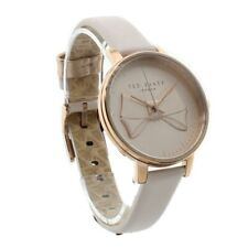 Ted Baker Pink Ladies Watch Brook y firma Arco Correa de Cuero TEC0185001