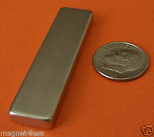 4 Pieces of 2x1/2x1/4 Inch Grade N42 Rare Earth Neodymium Block Magnets