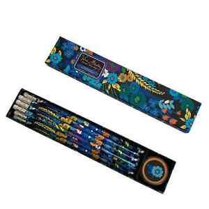 Vera Bradley Stationary Writing Floral 10 Pencil Box Set & Sharpener