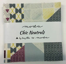 "Chic Neutrals by Amy Ellis for Moda - fabric MINI Charm Pack - 42 x 2.5"" squares"