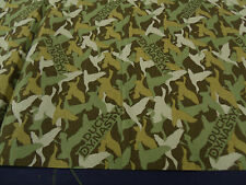 """Duck Dynasty duck camo fabric-brown-44"""" wide 100% cotton -qilting weight fabric"""