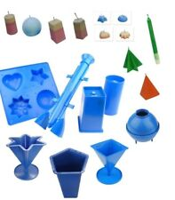 Set x 8, Tray Pillar Star Pyramid Rectangle Rocket Sphere Pentagon Moulds. S7613