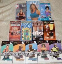 LOT 12 Workout Videos VHS TAEBO Richard Simmons KATHY IRELAND Jane Fonda JAKE