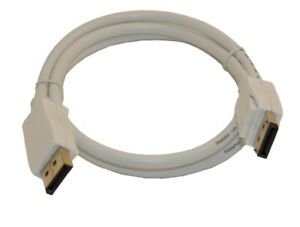 3ft DisplayPort to DisplayPort (v1.2) Cable  28AWG  Gold Plated  White
