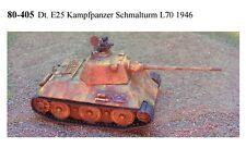 MGM 080-405 1/72 Resin WWII+ GE25 Kampfpanzer Schmalturm L70 1946