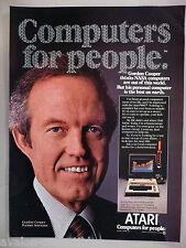 Atari 800 Computer PRINT AD - 1981 ~~ Gordon Cooper, US Astronaut