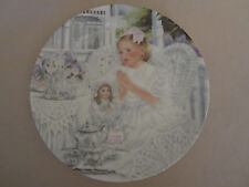 BLESS US O LORD FOR THESE THY GIFTS collector plate CORINNE LAYTON Doll