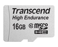 Transcend 16GB High Endurance microSD Card with Adapter
